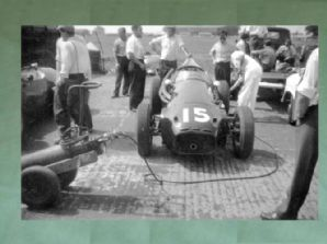CONNAUGHT C Type F1 Ivor Bueb, paddock 1958 British GP . Nice 10x7